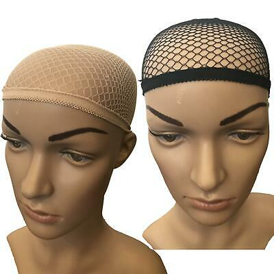 Zielsetzung 2 X Wig Cap Breathable Stretchable Stretch Stocking Wigcaps Nude Beige Black