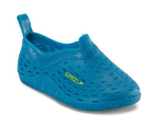 Speedo Toddler Boys Jellies Water Shoes Blue Deep Green S 5-6, M 7-8 - New