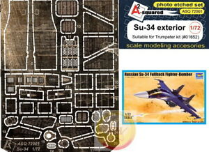 1 72 Sukhoi Su 34 Details PE Set By A2 Squared ASQ 72001