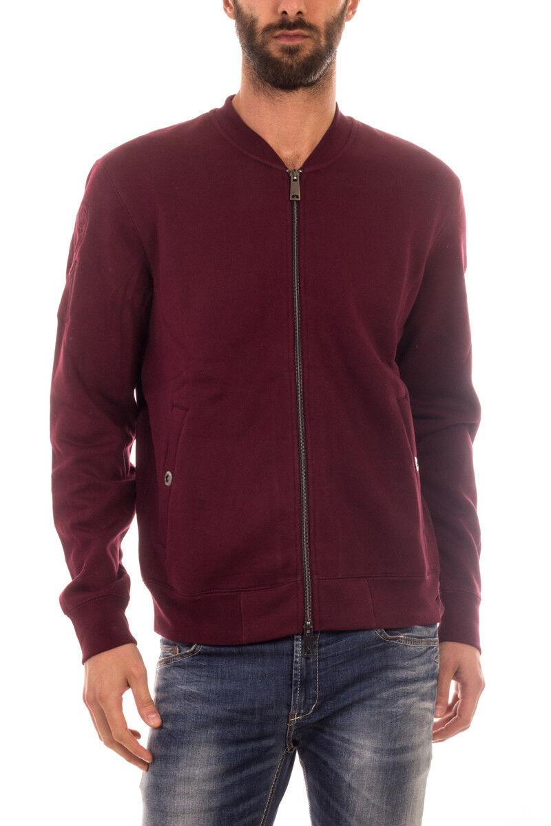 9dddec80b Felpa Armani Jeans AJ Sweatshirt Hoodie Uomo Uomo Uomo Bordeaux 6X6M656JGMZ  1491 a8002c