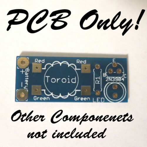 Training for STEM Joule Thief DIY LED Kit Video and PDF Tutorials PCB ONLY