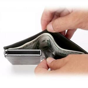 Leather-RFID-NFC-Blocking-Bifold-Cash-Wallet-ID-Credit-Card-Holder-Aluminum-Men