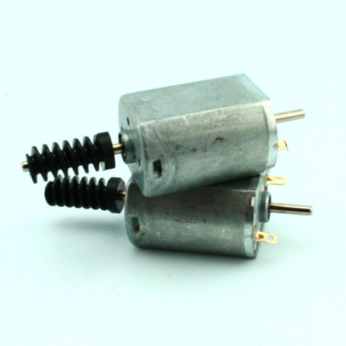 2pc DC6V 4400rpm FK-130SH Dual Double Shaft Carbon Brush Motor with Plastic Worm