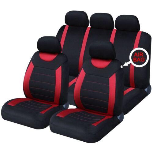 Negro-azules gamuza fundas para asientos Renault Captur asiento del coche referencia completamente