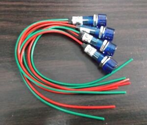 4 BBT 12 volt Blue LED Low-Profile Indicator Lights