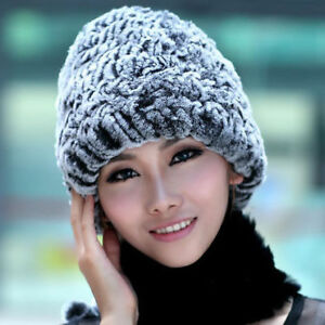 bc6637fada8 Women Real Rex Rabbit Fur Hat Winter Fashion Style Free Shipping ...