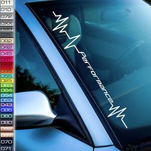 Pulsschlag-Performance-Auto-Aufkleber-Frontscheibenaufkleber-Hubraum-Fridays-F27
