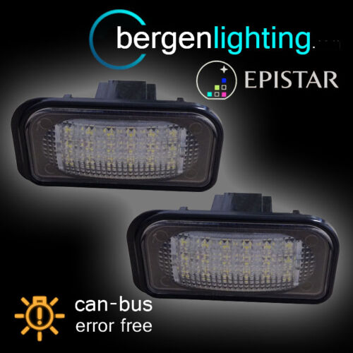 FOR MERCEDES C CLASS W203 4 DOOR SALOON 2000-2007 18 LED NUMBER PLATE LAMPS