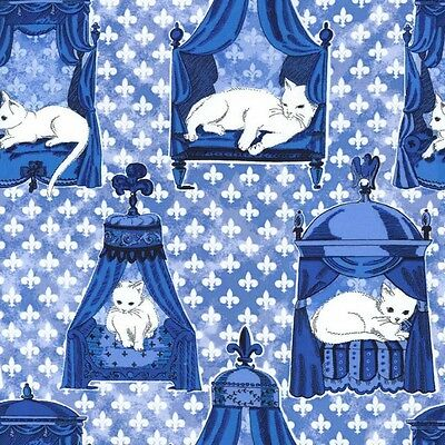 Fat Quarter We Are Not Amewsed (Cats In Luxury Beds) Cotton Quilting Fabric