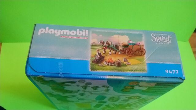 PLAYMOBIL ~ Spirit ~ Riding Free ~ Lucky's Dad with Wagon ~ 9477 ~ 54pcs ~New!