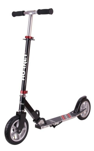 "City Scooter Hornet Hudora 8"" 200 Air schwarz/rot 200mm"