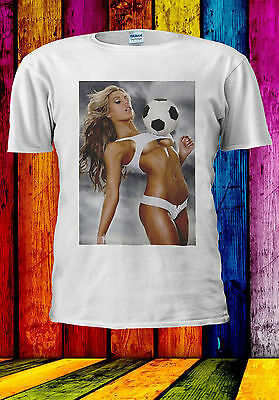 Offen Hottest Sexy Football Girl Naked T-shirt Vest Tank Top Men Women Unisex 556 Ohne RüCkgabe