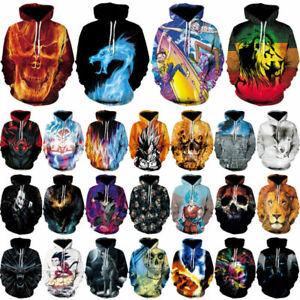 7515be43b5c5 3D Print Men s Women Hoodie Sweater Sweatshirt Jacket Coat Pullover ...
