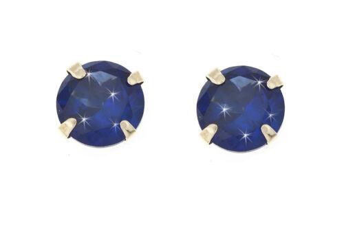 9ct gold 5mm CZ crystal birthstone stud earrings Birthday Studs Giftbox