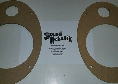 "Spacer Rings 6x9/"" 12MM/"" Thick One Pair Made in USA PVC Plastic Speaker"