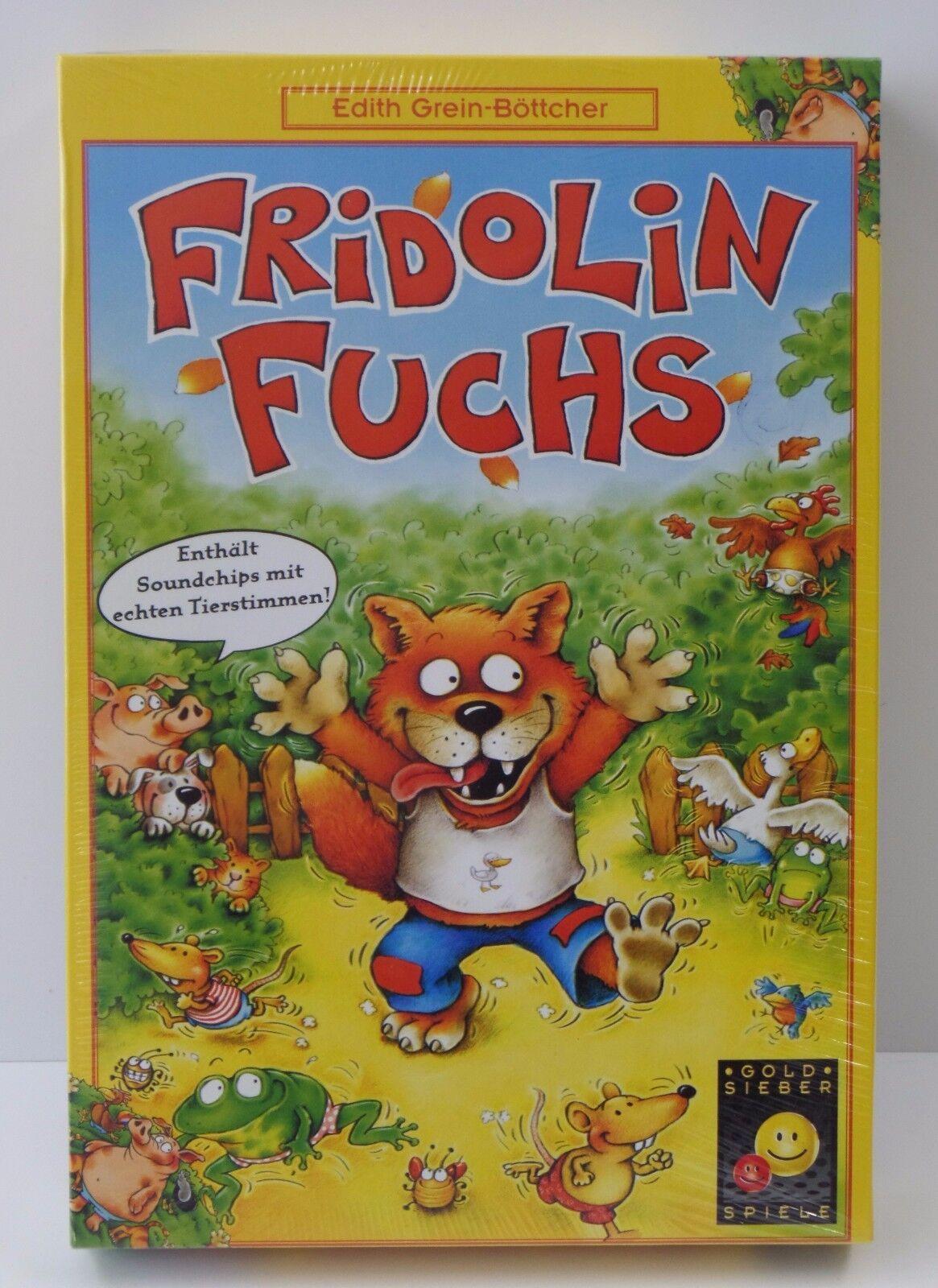 Gold Sieber Spiele Fridolin Fuchs - NEU NEW - - - Eingeschweißt 90536c