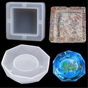 Silicone Mold Ashtray Epoxy Resin Crystal Cement DIY Jewelry Making Mould Craft