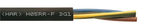 Leichte Gummischlauchleitung H05RR-F 3 G 0,75 schwarz Ring 100m