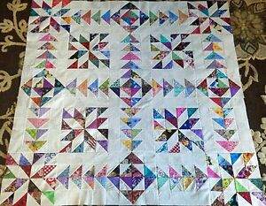 NEW Variation Chasing Goose Quilt Top made in USA 100% Cotton Fabrics