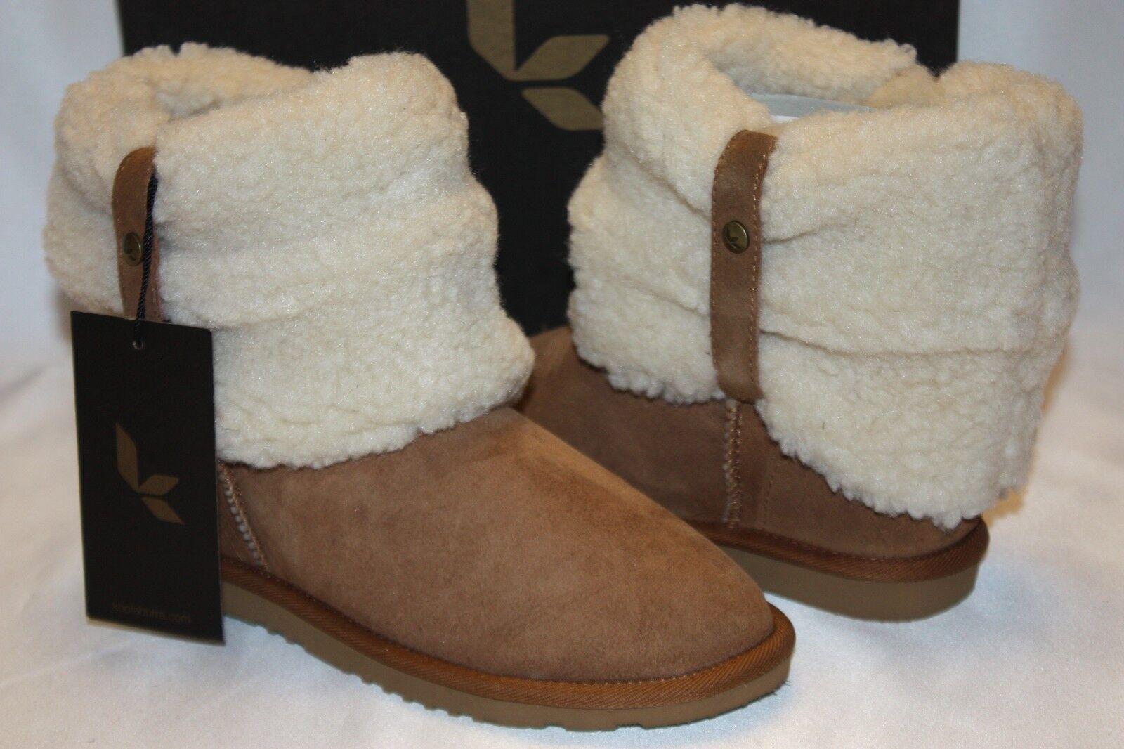 Nuevo En Caja  nuevo  KOOLABURRA Emilee Corto botas de piel de oveja Castaño Gamuza de Piel de Oveja 5
