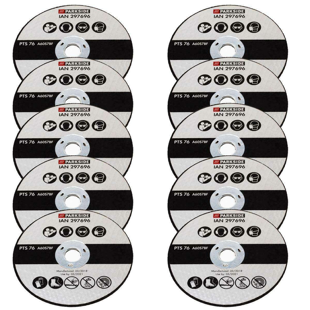 10 Cutting Discs for Parkside Cordless Angle Grinder pwsa 12 B1 LIDL IAN 334002