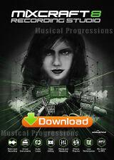 MIXCRAFT 8 RECORDING STUDIO - AUDIO MUSIC SOFTWARE - DIGITAL - WINDOWS - NEW