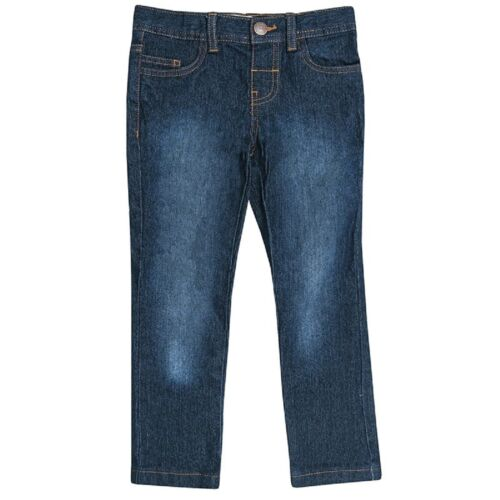 Boys Blue Black Wash Denim Contrasting Brown Stitching Cotton Skinny Jeans2-6yrs
