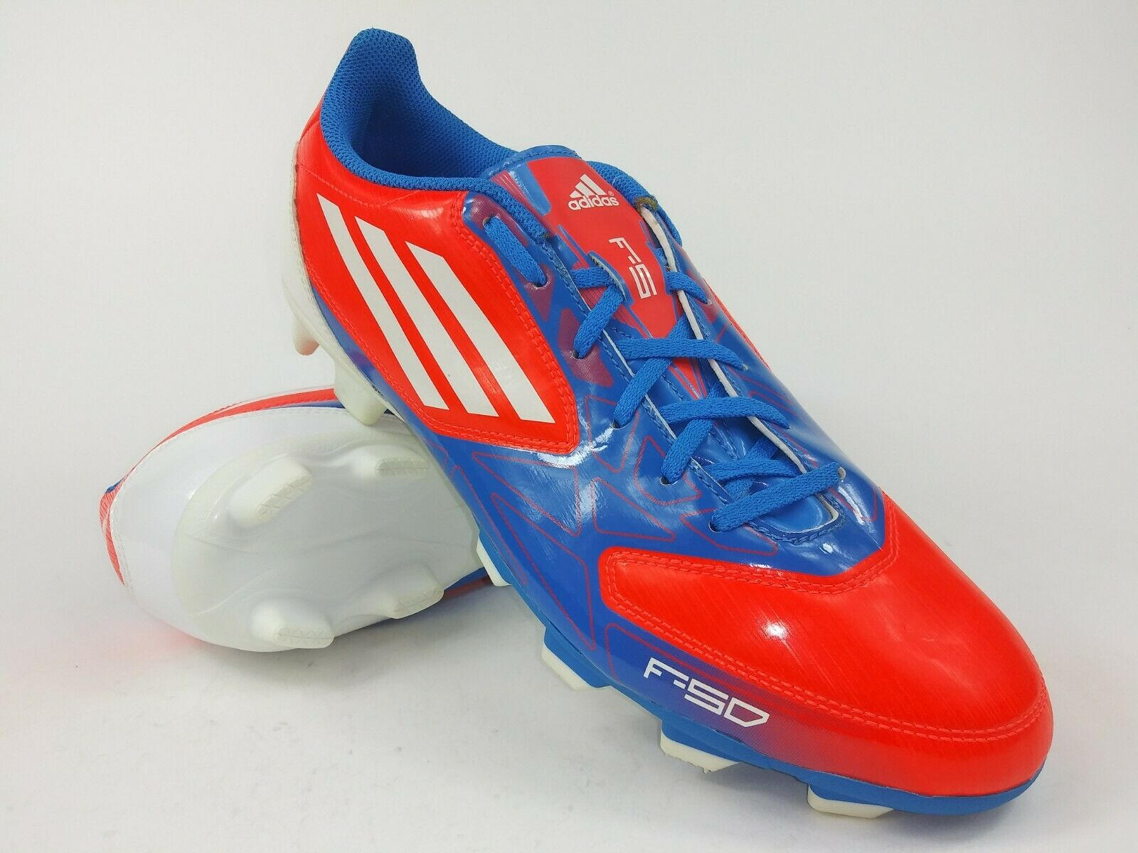 Adidas uomini Rare  F5 TRX FG V21455 arancia bianca Soccer Cleats stivali Diuominiione 10.5