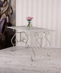 esstisch shabby chic garten gartentisch metalltisch weiss tisch. Black Bedroom Furniture Sets. Home Design Ideas