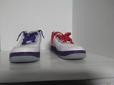 Nike Air Force 1 '07 BEIJING WHITE BLUE DENIM ATOM RED PURPLE 315115 113 8.5 | eBay
