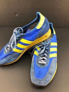 77d86c55657fbc Vintage Adidas TRX Running Shoes Rare  3320-02 SZ 9.5  Yugoslavia ...