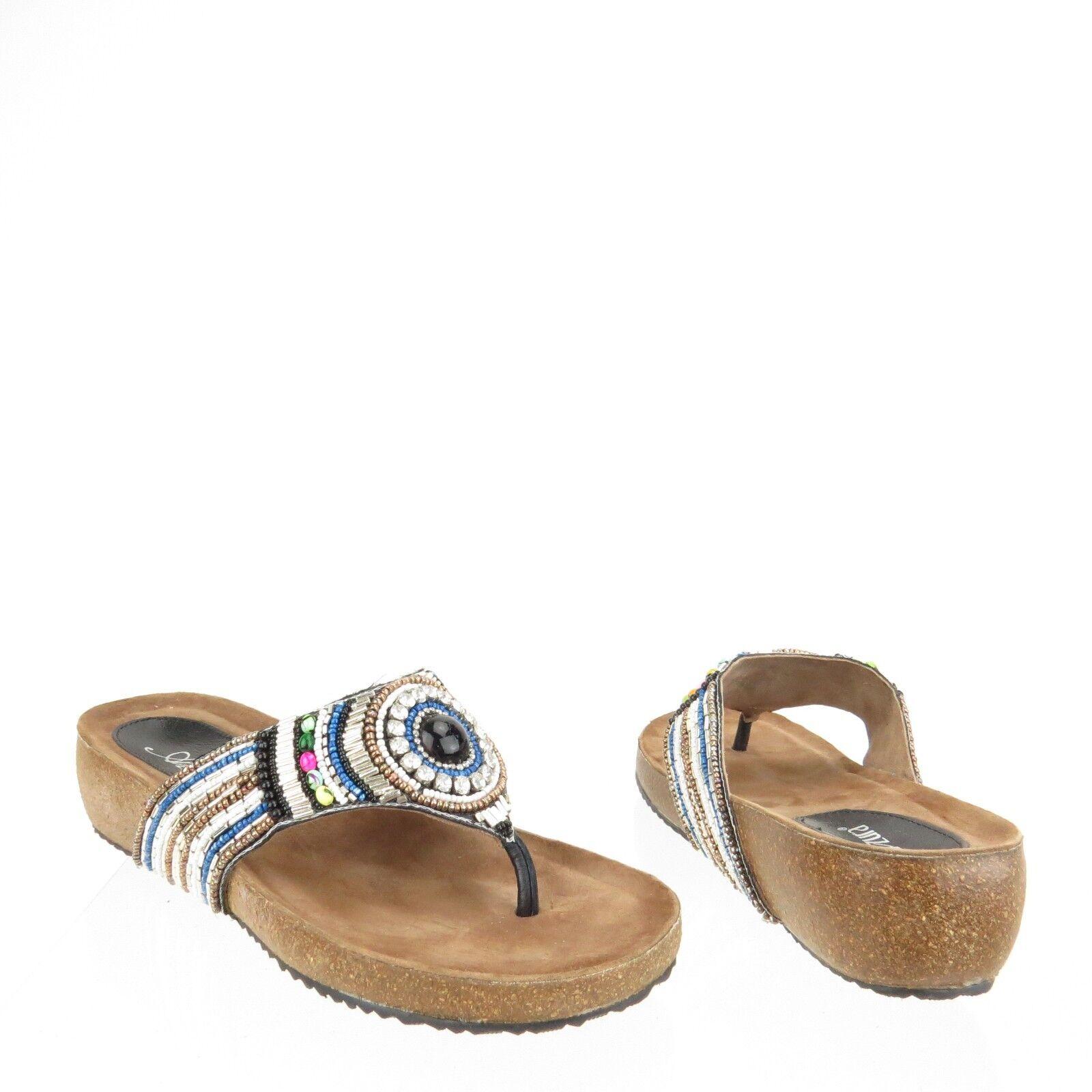 Women's Azura Anarosa Flip Flop Sandals Black US Multi-Color Size 40 US Black 9 M bb77e2