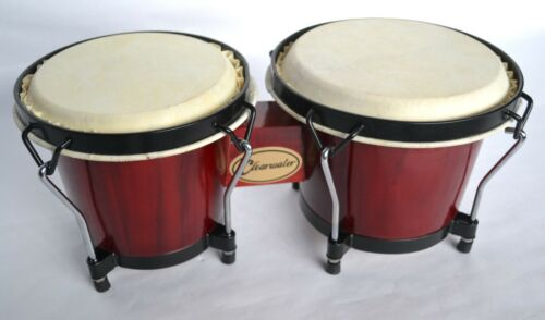 BONGOS 6.5 /& 7.5 INCH HEADS RED GLOSS FINISH BY CLEARWATER