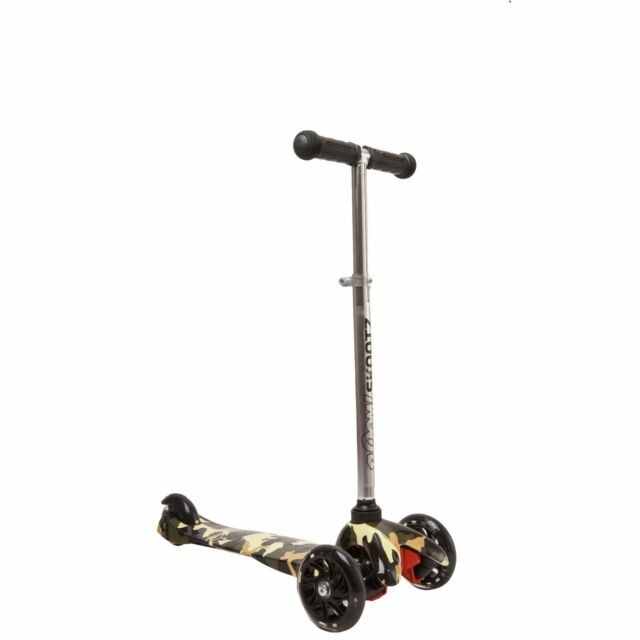 Deluxe 3 Wheel Mini Scooter For 2 5 Year Olds Green Camouflage With