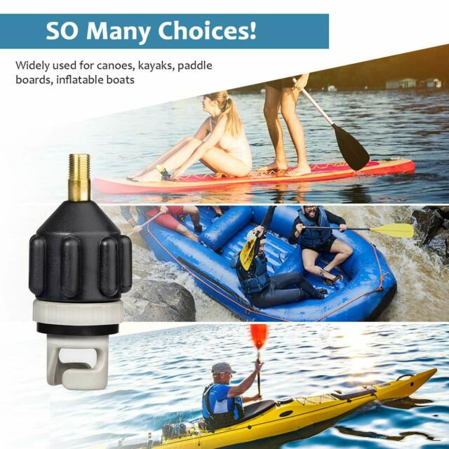 Canoe Sup Pump Adapter Inflatable Boat Adaptor Valve Paddle Board Accessory LC