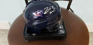 Zach-Werenski-Columbus-Blue-Jackets-Autographed-Blue-Mini-Helmet-Fanatics-COA