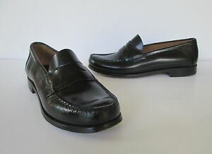 Bass Weejuns Womens Black Leather Nice Casual Slip On Penny Loafers Shoes 8.5 M