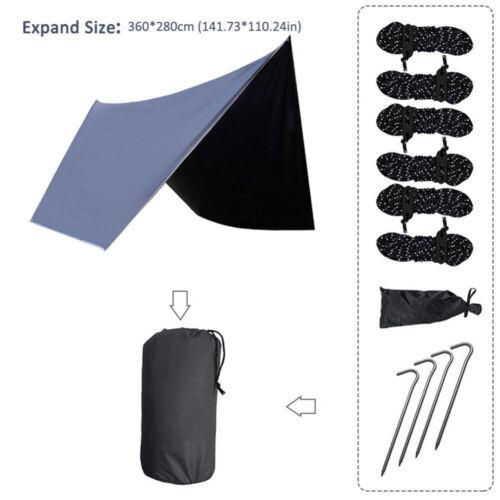 Camping Tent Ultra-Light Plaid Hammock Rain Outdoor Canopy Waterproof Anti-UV