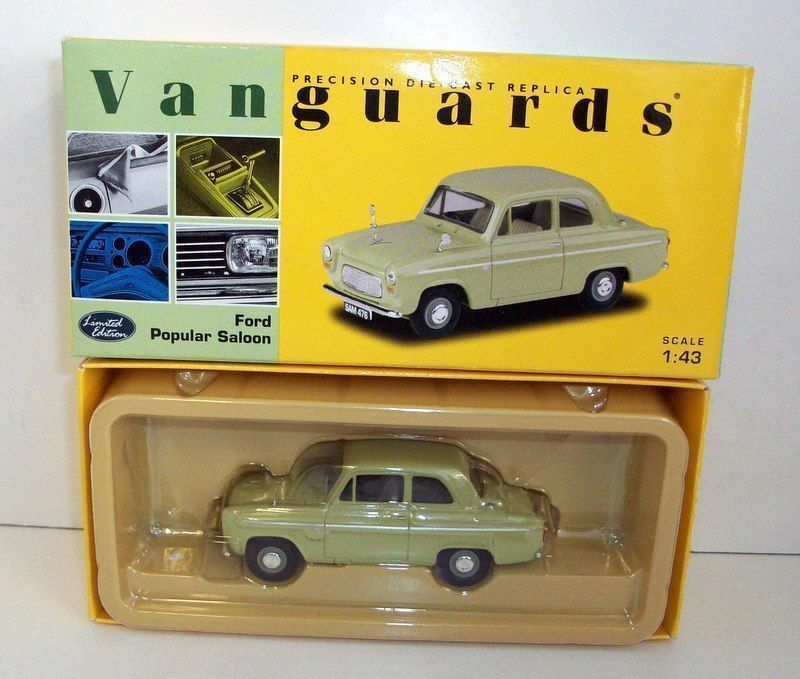 Vanguards 1 43 VA02109 Ford Popular Saloon Sunburst Yellow Yellow Yellow d43993