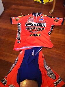 best service 71850 7d52f Details about Retro PANARIA team kit. Size Medium (Jersey, knicks + cap).  USED