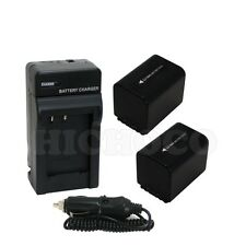 2 Battery + Charger Combo Set for Sony NP-FV70 2600mAh HDR-CX200 CX190 CX210