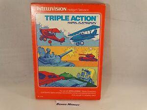 TRIPLE-ACTION-MATTEL-INTELLIVISION-PAL-EUR-ITA-ITALIANO-BOXED-BOXATO-COMPLETO