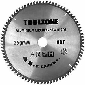 250mm Circular Saw Disc Blade with 80 TCT (Tungsten Carbide Tipped) Teeth