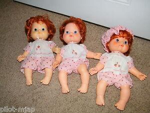 3-Vintage-Strawberry-Shortcake-Baby-Blows-Kisses-Dolls