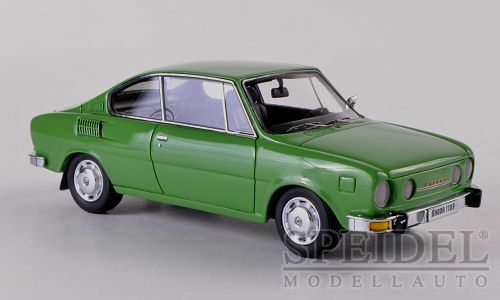Wonderful NEO-resin-modelcar SKODA 110R COUPE 1972 - green - 1 43 - ltd. Ed.