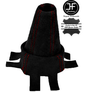 RED-FITS-HONDA-CIVIC-TYPE-R-FN2-2007-2012-GEAR-GAITOR-BLACK-SUEDE