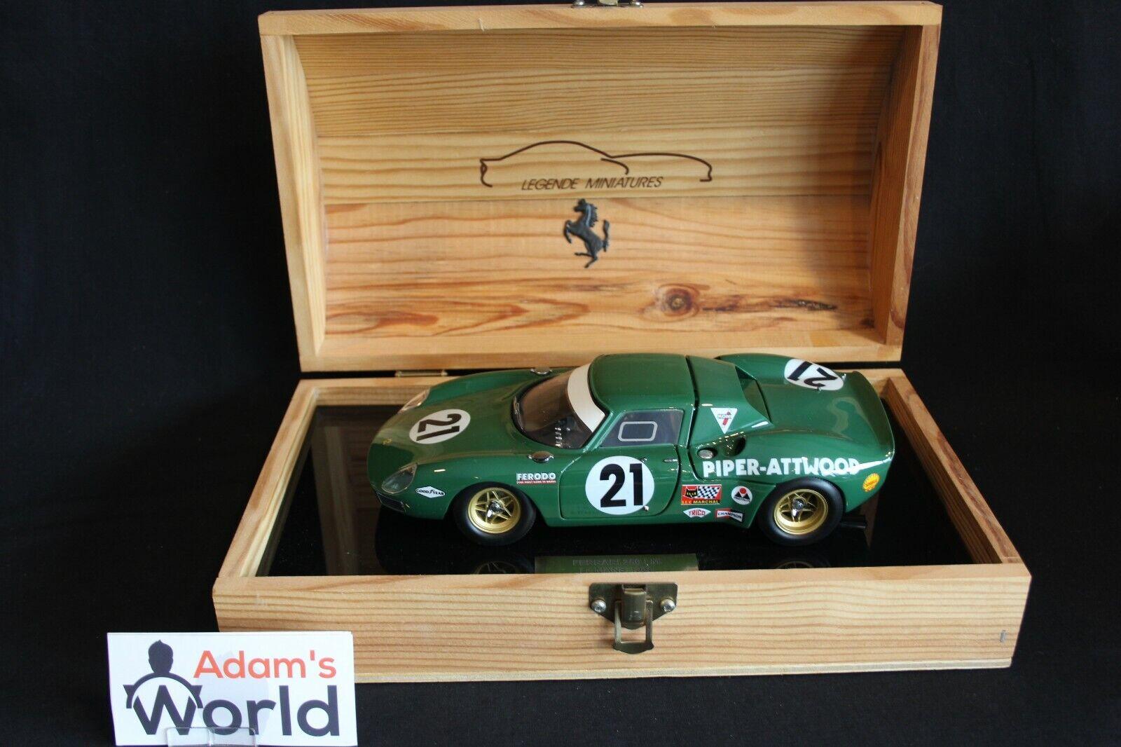 Legende Miniatures Ferrari 250 LM 1968 1 18  21 24h Le Mans (PJBB)