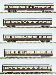 RIVAROSSI-HR4267-Set-Henschel-Wegmann-DRB-5-carrozze-livrea-beige-viola-argento