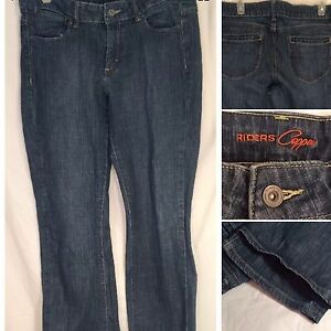 Juniors-Riders-Jeans-Copper-Boot-Cut-Stretch-Sz-13-Petite-slightly-distressed