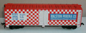 Tyco-HO-355E-Billboard-Reefer-40-foot-RALSTON-PURINA-RED-ROOF-amp-ENDS-boxed